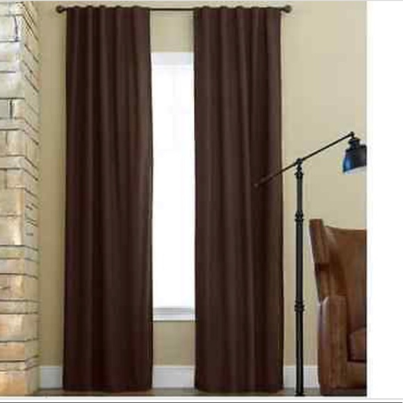 JCP Rod Pocket Back Tab Panel Curtains 39x 82